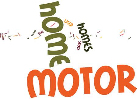 Concetto della nuvola di parola del fondo del testo di MOTORHOMES di KW
