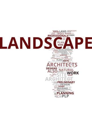 LANDSCAPE ARCHITECT PLP Text Background Word Cloud Concept