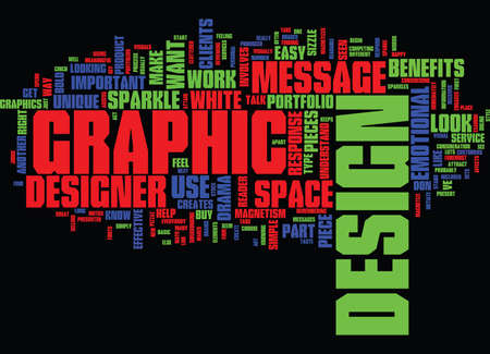 GRAPHIC DESIGN Text Background Word Cloud Concept