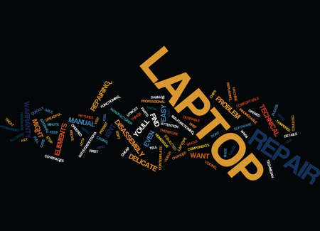 LAPTOP REPAIR Text Background Word Cloud Concept Ilustrace