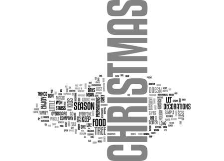 IT S NOT JUST ABOUT CHRISTMAS TREES AND CHRISTMAS GIFTS Text Background Word Cloud Concept