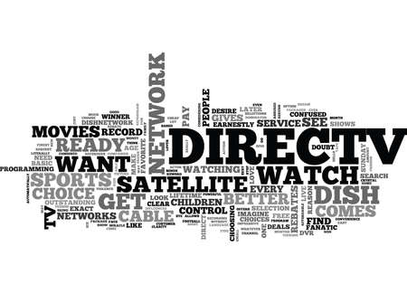 IS DIRECT TV RIGHT FOR ME Text Background Word Cloud Concept