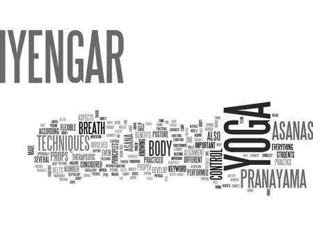 IYENGAR YOGA Text Background Word Cloud Concept Illustration