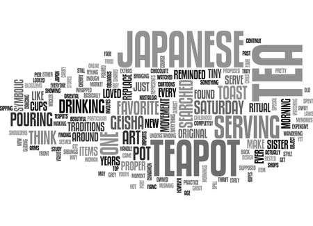 JAPANESE TEAPOTS Text Background Word Cloud Concept