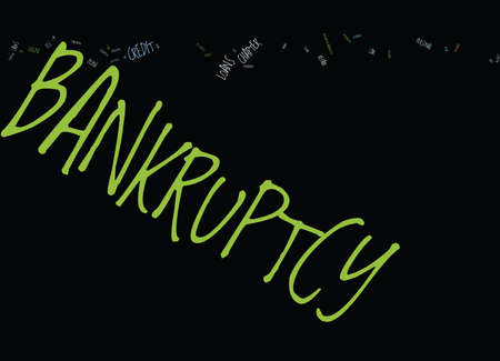 KW BANKRUPTCY Text Background Word Cloud Concept