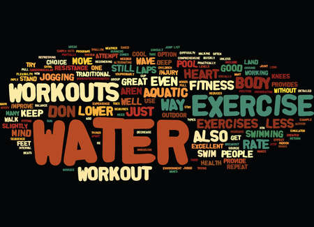 GREAT SUMMER WORKOUTS JUST ADD WATER Text Background Word Cloud Concept