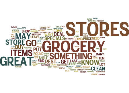 GROCERY STORES Text Background Word Cloud Concept
