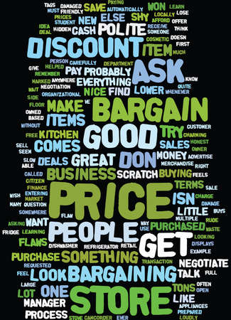 LEARN TO BARGAIN Text Background Word Cloud Concept
