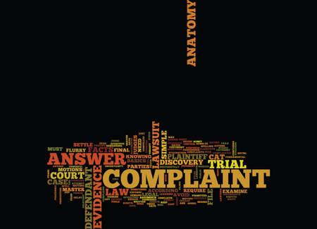 LAWSUIT ANATOMY Text Hintergrund Wort Cloud Concept Standard-Bild - 82594589