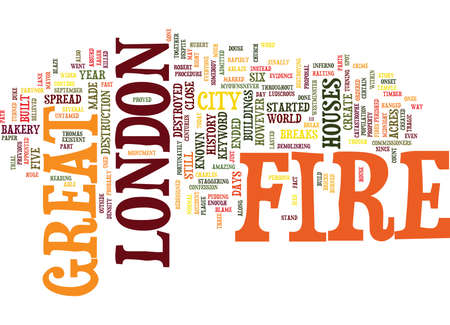 GREAT FIRE OF LONDON Text Background Word Cloud Concept