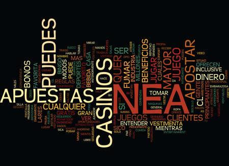 LA INDUSTRIA DE LAS APUESTAS Text Background Word Cloud Concept