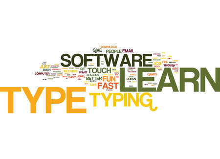 LEARN TO TYPE JUST DO IT Text Background Word Cloud Concept