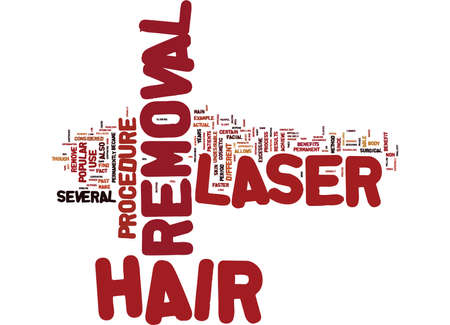 LASER HAIR REMOVAL HOW DOES THIS PROCESS WORK Text Background Word Cloud Concept Ilustração