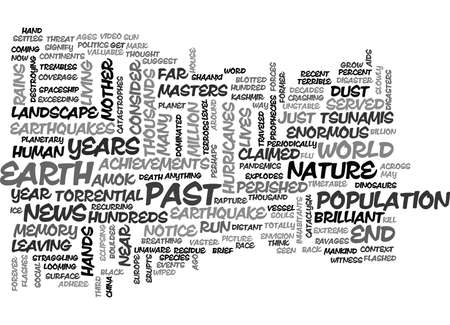 IS THE END NEAR Text Background Word Cloud Concept
