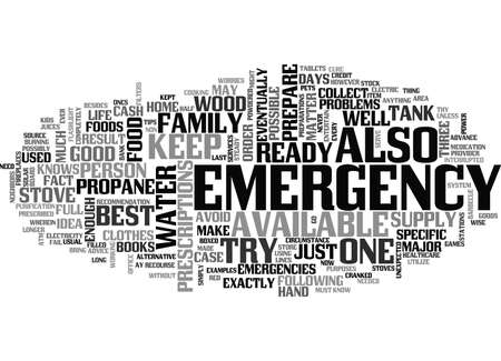 IT IS NOW OR NEVER PREPARE FOR A HOME EMERGENCY Text Background Word Cloud Concept Ilustração