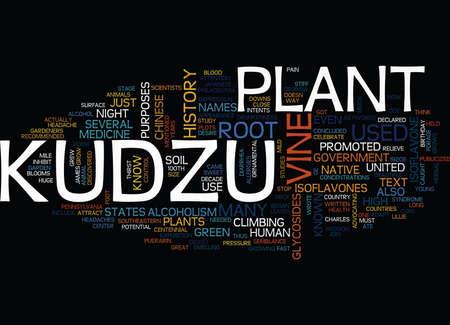 KUDZU Text Background Word Cloud Concept Illustration
