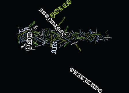 GRATITUDE É A CHAVE PARA ABUNDÂNCIA Antecedentes de Texto Word Cloud Concept Foto de archivo - 82593234