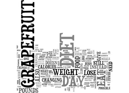 IS THE DAY GRAPEFRUIT DIET THE ANSWER Text Background Word Cloud Concept