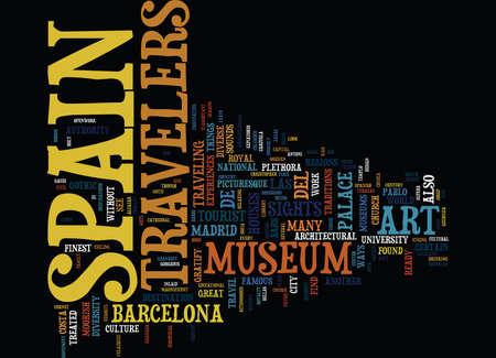 スペインのテキスト背景単語クラウド コンセプトの素晴らしい観光スポット