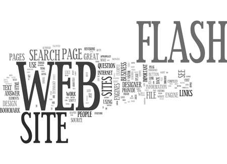 IS FLASH APPROPRIATE IN A BUSINESS WEB SITE Text Background Word Cloud Concept