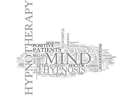 Hypnosis A CIRCUS ACT 텍스트 배경 Word 클라우드 개념 일러스트