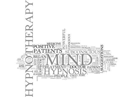 IS HYPNOSIS EEN CIRCUS ACT Tekst Achtergrond Word Cloud Concept Stock Illustratie