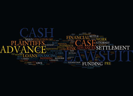 mostly: LAWSUIT LOAN NO RISK FUND HOW DOES IT WORK Text Background Word Cloud Concept