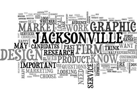 JACKSONVILLE GRAPHIC DESIGN Text Background Word Cloud Concept