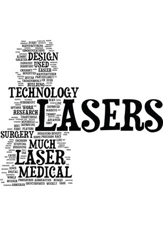 LASER TECHNOLOGY Text Background Word Cloud Concept Illustration