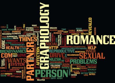 GRAPHOLOGY FOR SEX GRAPHOLOGY AND SEX Text Background Word Cloud Concept Ilustração