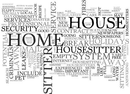 IS IT WISE TO TRAVEL AWAY FROM HOME WHILE YOUR HOUSE IS EMPTY Text Background Word Cloud Concept