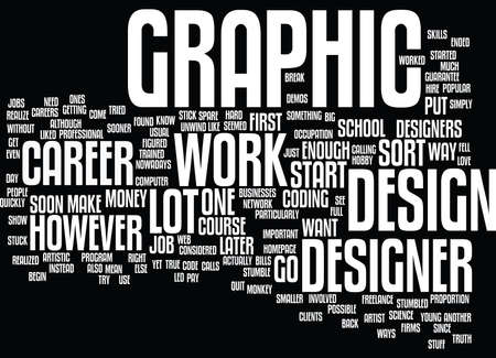 GRAPHIC DESIGNER CAREER Text Background Word Cloud Concept