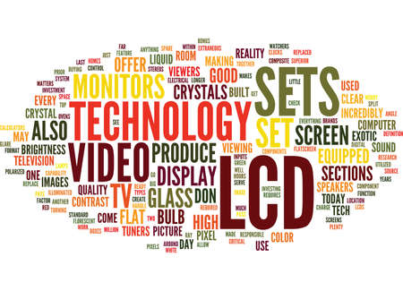 LCD TECHNOLOGY Text Background Word Cloud Concept