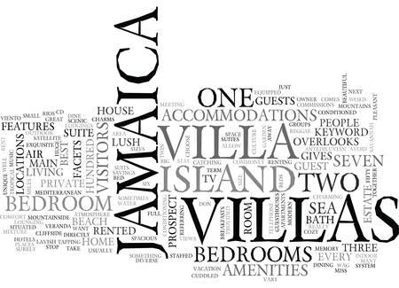 JAMAICA VILLA Text Background Word Cloud Concept