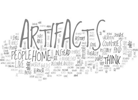 IS IT APPROPRIATE TO DECORATE WITH ARTIFACTS Text Background Word Cloud Concept