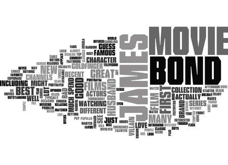 JAMES BOND MOVIE Text Background Word Cloud Concept