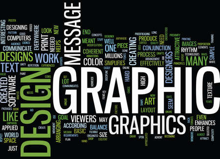 GRAPHIC DESIGNS Text Background Word Cloud Concept