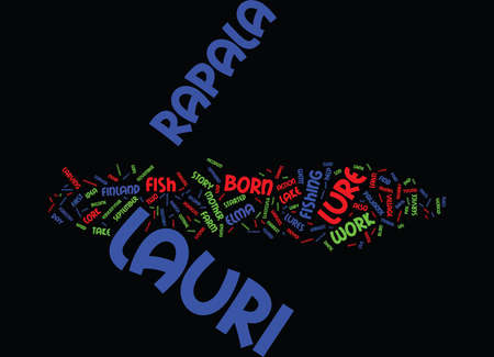 LAURI RAPALA Text Background Word Cloud Concept