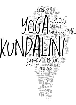 KUNDALINI YOGA Text Background Word Cloud Concept