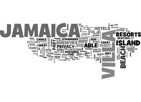 JAMAICA Text Background Word Cloud Concept