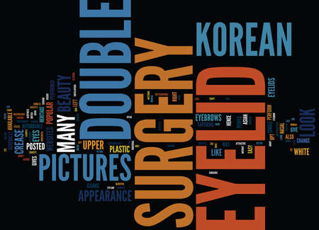 encyclopedic: KOREAN DOUBLE EYELID SURGERY PICTURES Text Background Word Cloud Concept