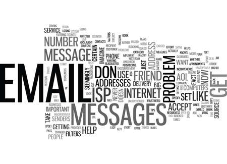 IS YOUR EMAIL ADDRESS BLACKLISTED Text Background Word Cloud Concept