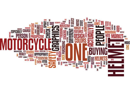 GRAPHICS FOR THE MOTORCYCLE HELMET Text Background Word Cloud Concept Illustration