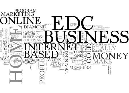 IS EDC GOLD A SCAM THE TRUTH REVEALED Text Background Word Cloud Concept