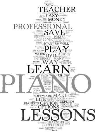 LEARN PIANO HOW TO SAVE A LIFE EASY Text Background Word Cloud Concept Ilustração