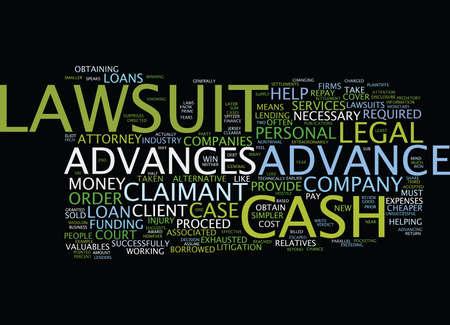 LAWSUIT CASH ADVANCES Text Background Word Cloud Concept