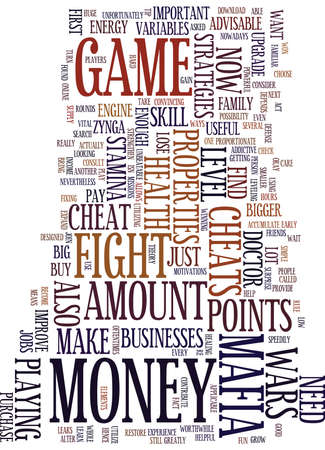 LEARN SOME STRATEGIES IN MAFIA WARS Text Background Word Cloud Concept