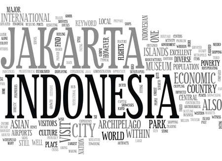 JAKARTA INDONESIA Text Background Word Cloud Concept