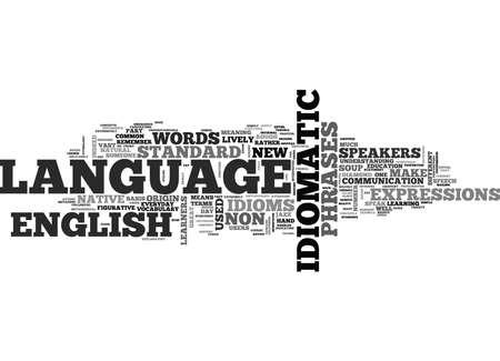新鮮で活気のあるイディオム テキスト背景単語雲概念英語ジャズします。