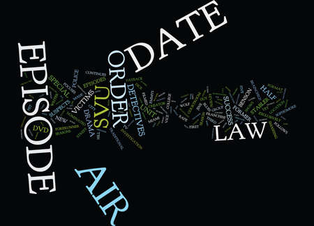 LAW AND ORDER SVU DVD REVIEW Text Background Word Cloud Concept Ilustração